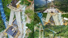 El puente Hisgaura, tendrá una Altura 147 M sera el mas alto de Colombia