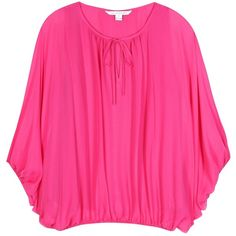 Diane von Furstenberg Emelia Silk Blouse (31610 RSD) ❤ liked on Polyvore featuring tops, blouses, pink, diane von furstenberg blouse, pink silk top, silk top, diane von furstenberg tops and pink blouse