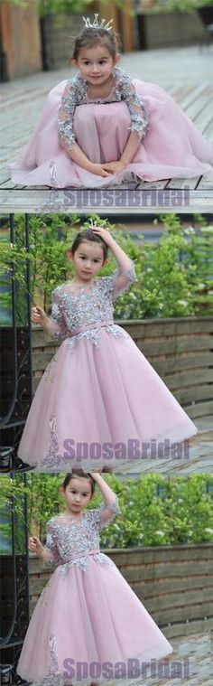 Organza Pearls Dress Flower Girl Wedding Pageant Occasion Hot Pink Sz 4-5T FG079