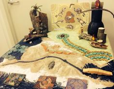 Invitation to play - set up a table with natural materials and small parts to inspire young (and not so young!) children to come and play.  This is a great hands on, creative and child-led activity to go along with Australian and Indigenous studies, NAIDOC week, Australia Day, Sorry Day, Reconciliation week and more. Suitable for preschool, kinder, preps, natural learning, play based learning, homeschool/home education and just for fun!