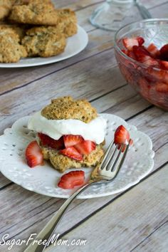 strawberry shortcake #sugarfree strawberri season, strawberri shortcak