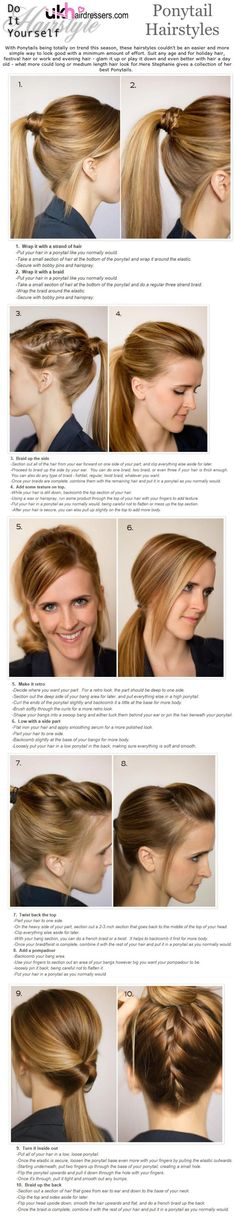 DIY Styles - Ponytail Hairdos #ukhairdressers  HAIRSTYLES AND ADVICE VISIT US  WWW.UKHAIRDRESSERS.COM
