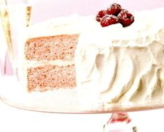 Pink Champagne Cake with Sparkling White Frosting by Cuisine at Home Pink Champagne Cake, Cupcake Cakes, Cupcakes, White Frosting, Cookie Desserts, Vanilla Cake, Nom Nom, Sweet Tooth, Sparkle