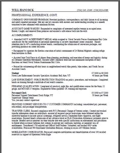 Federal Government Resume Samples If It Is Your First For