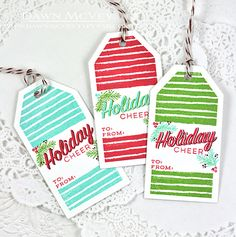 Holiday Cheer Tags by Dawn McVey for Papertrey Ink (September 2015)