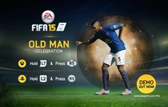 Watch Samuel Eto'o's old man celebration and more in the FIFA 15 goal celebration tutorial video Fifa 15, Upcoming Matches, Old Men, World Cup, Soccer, Goals, Baseball Cards, Celebrities, Sports