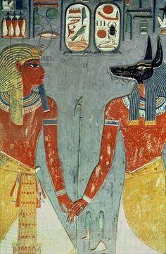 Ancient Egypt: New Kingdom, Nemes headdress on L