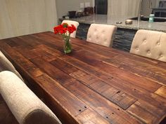 custom farm dining table with bench - farmhouse harvest large and apartment size kitchen tables beach house cabin