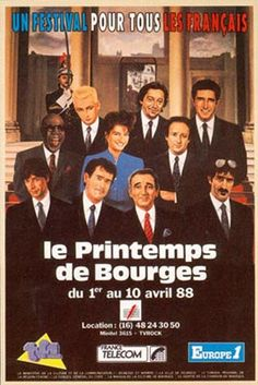 Affiche du Printemps de bourges 88 Berries, Father, French Collection, Baseball Cards, Movie Posters, Movies, Vintage, Music Festivals, Antique Post Cards