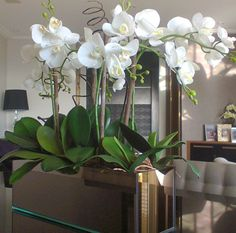 Use orchids, flowers and plants to decorate your home. Thirty five gorgeous ways to decorate with orchids, flowers, and plants. Feed your design ideas now. Orchid Flower Arrangements, Orchid Centerpieces, Orchid Plants, Centerpiece Ideas, Artificial Orchids, Indoor Orchids, Diy Plant Stand, Deco Floral, Most Beautiful Flowers