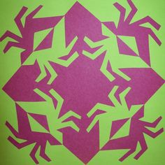 Notans. A simplified version of Escher's tesselations. Students create a template to create uniformity in design.