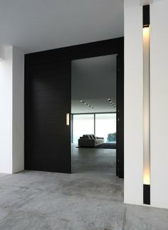 Entrance of a private villa in the South of France, clean and pure lines _