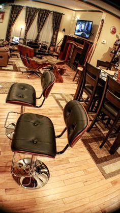 Bent wood stool, Eames Chair, rough cut lumber mantle art. Rough Cut Lumber, Mantle Art, Bent Wood, Wood Stool, Herman Miller, Eames, My House, Flooring, Chair