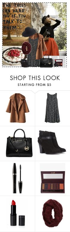 """""""The trees can hear you if you talk to them"""" by im-a-daydreamer ❤ liked on Polyvore featuring MANGO, MICHAEL Michael Kors, Forever 21, Mary Kay, Barry M, Aerie, J.Crew, November and autumn"""