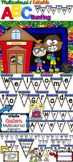 This Multicolored ABC Bunting resource is perfect to welcome your students Back to School or to use all year for your Word Wall. #teachersfollowteachers #teacherspayteachers #tpt #iteachtoo #teachers #education #learning #teacher #backtoschool #wordwall