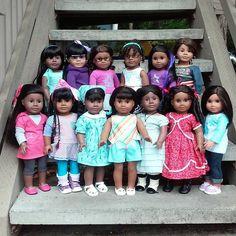Black Doll Magic! Top Row: Gwenni, Michi, Mellie, Shanna, Sonali, Otters. Bottom…