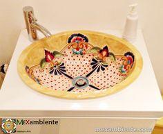 Buntes mexikanisches waschbecken von mexambiente in - Fliesen mexikanischer stil ...