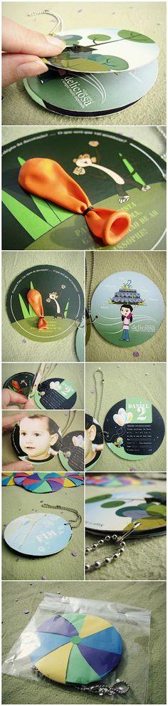 convite para festa de aniversário - tema: desenho do Peixonauta (Discovery Kids)