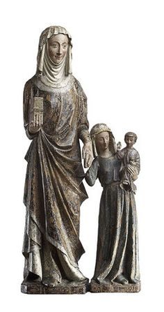"Anna Selbdritt (""Virgin, Child and St. Madonna, Renaissance, Santa Ana, St Anne, European Paintings, Medieval Art, Gothic Art, Doll Face, Headgear"