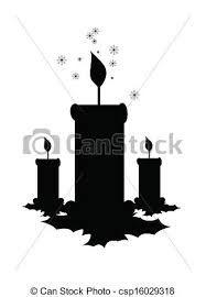 siluetas velas navidad - Buscar con Google