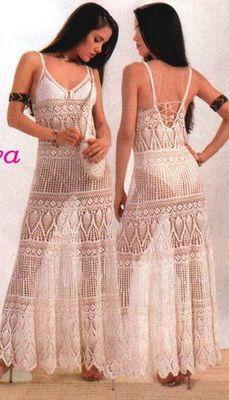 Crochet Dress free crochet graph pattern Anleitungen 8e7f070465e