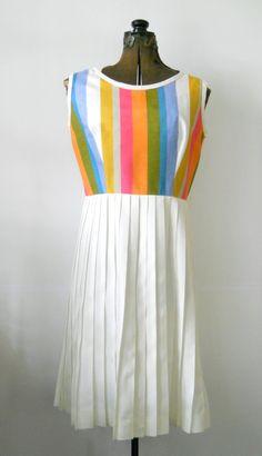 Vintage 1970s Classic Summer Dress  Susan Ross by HazeyJaneVintage