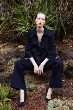 DesignersStephanie Danan and Justin Kern's L.A. roots are shining through in their pre-fall collection. There's definitely amore relaxed sensibility,toCo's usual polished, Victorian-inspired silhouettes, that we're crushing on. Big time. Beautifully tailored pieces with trumpet sleeves,