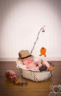 Baby boy fishing