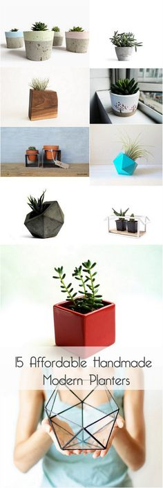 15 Affordable Handmade Modern Planters