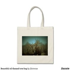 Beautiful oil themed tote bag