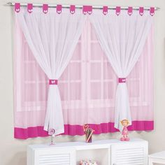 Cute Curtains, Pink Curtains, How To Make Curtains, Window Curtains, Decorative Household Items, Diy Curtain Rods, Zeina, First Apartment Decorating, Curtain Designs