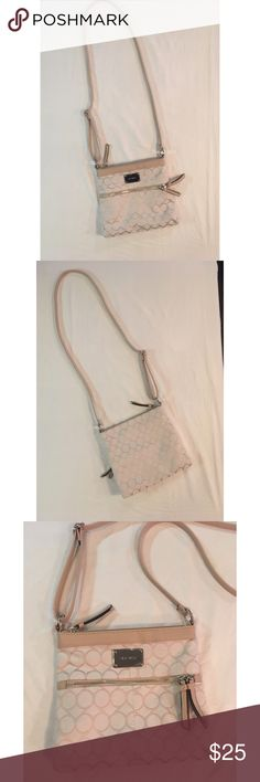 d3297c49461bf4 Nine West Crossbody Purse Nine West Crossbody Purse White and Tan Like new  condition Measurements are all approximate: Width Height Strap Nine West  Bags ...