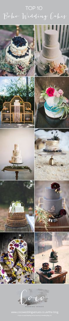 10 Boho Wedding Cakes | Style Focused Wedding Venue Directory | Coco Wedding Venues