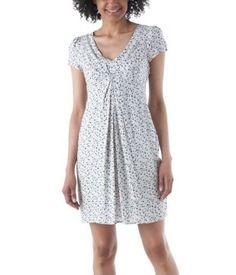 40 s style flowery dress ecru print - Promod