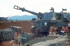 Vietnam Field Watches   155mm M109 Howitzer 5th 16th Field Artillery Vietnam 1968 Photograph ...