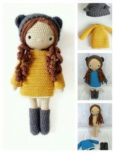 Crochet Doll Tutorial, Crochet Diy, Crochet Crafts, Crochet Ideas, Crochet Mignon, Confection Au Crochet, Crochet Amigurumi Free Patterns, Knitted Dolls Free, Crochet Doll Clothes