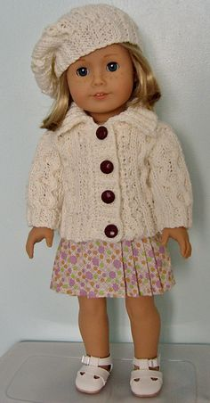 LINK - American Girl Doll Aran Set Pattern by Jacqueline Gibb
