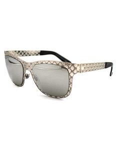 Look at this #zulilyfind! Silver & Gray Lattice Sunglasses #zulilyfinds