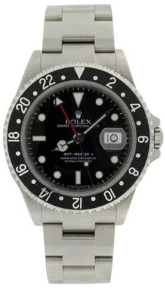 Rolex GMT Master II 16710 Stainless Steel Black Dial Mens Watch. Rolex mens watches for professionals are authentic rolex, either they prefer black rolex or gold rolex watch.