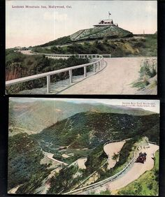 """vintage hollywood,ca laurel canyon""""lookout mt. inn""""lot of 2 postcards c. Hollywood Sign, Vintage Hollywood, Los Angeles Hollywood, Laurel Canyon, County Seat, Our Town, Los Angeles County, Beverly Hills, California"""