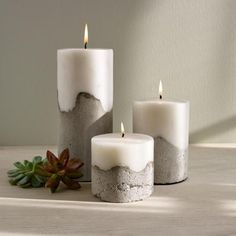 Design Ideas Pylon Pillar Candle, Gray Cement and White Paraffin Wax Column Candle, 4 Diameter x 10 Tall>>> Check this awesome product by going to the link at the image. (This is an affiliate link) Unique Candles, Diy Candles, Scented Candles, Pillar Candles, Candle Decorations, Decorative Candles, Candels, Beeswax Candles, Design Candles