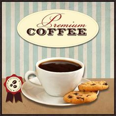 """Global Gallery 'Premium Coffee' by Skip Teller Framed Vintage Advertisement on Canvas Size: 24"""" H x 24"""" W x 1.5"""" D"""