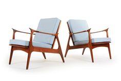 Highly Sculpted Viking Armchairs - Mr. Bigglesworthy Designer Vintage Furniture Gallery