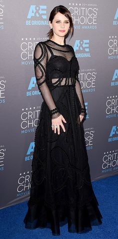 2015 Critics' Choice Movie Awards: Red Carpet Arrivals - Felicity Jones from #InStyle