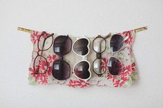 Or make a sweet little display with a sturdy ribbon and a headscarf.