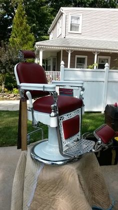belmont barber chair repair x rocker game 1960 vintage koken by downtownbeautylounge on etsy, $3000.00 | red hair..www ...