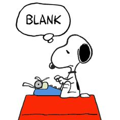 Snoopy Suffering From Writer's Block