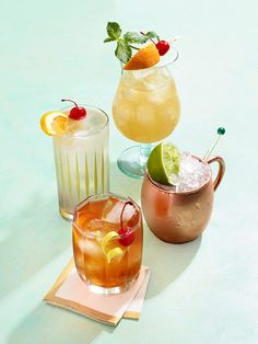 Leave the cork in the pinot grigio and bring a little Old Hollywood to your glass with these drinks, courtesy of Of All the GIn Joints by Mark Bailey. Easy Cocktails, Classic Cocktails, Cocktail Drinks, Cocktail Recipes, Sweet Cocktails, Gin, Food Photography Styling, Food Styling, Drink Menu