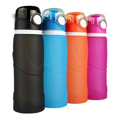 China manufacturer reusable soft bpa free silicone sports bottles|foldable water bottle S5