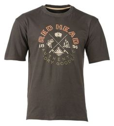 RedHead Vintage Outdoors Collection Campers T-Shirt for Men - Coal - XL